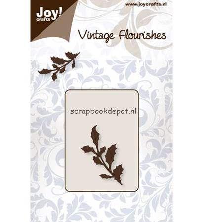Joy Cutting & Embossing stencil Vintage Flourish Holly