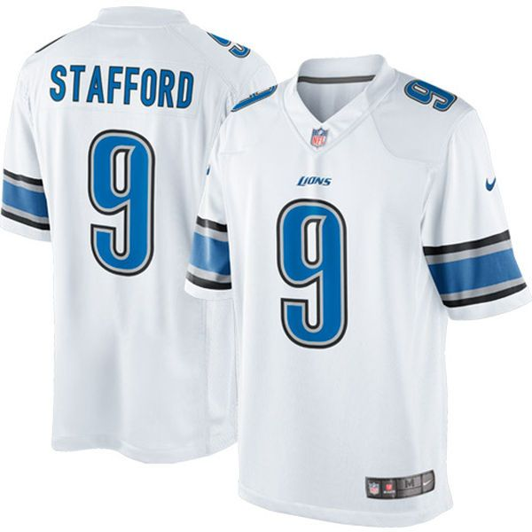 Men's Detroit Lions Matthew Stafford Nike White Limited Jersey