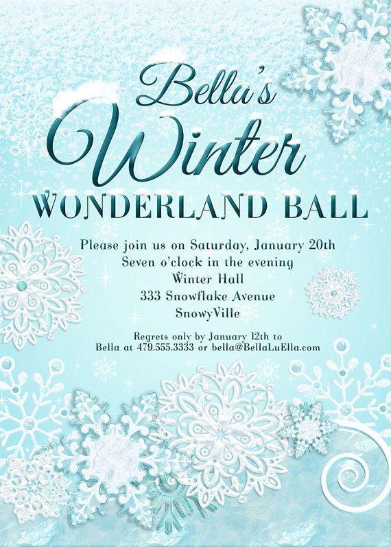 winter wonderland party  winter invitation  winter party