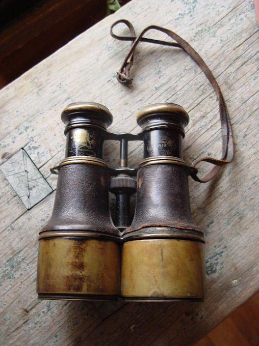 Nautical Instruments - Antique Ship /Navy Binoculars by Iris de Paris ...