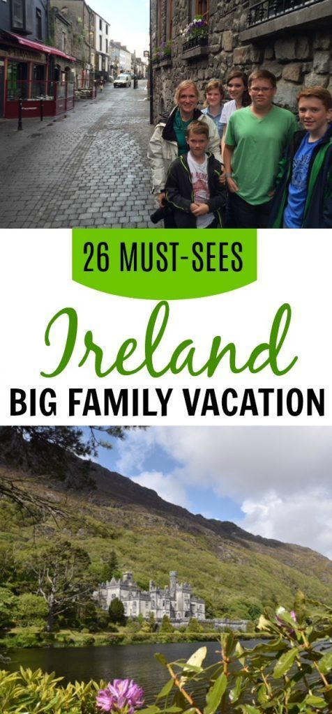 #Ireland must-sees with your big family. Places to visit and things to do in Ireland for a fantastic family trip. #familytravel