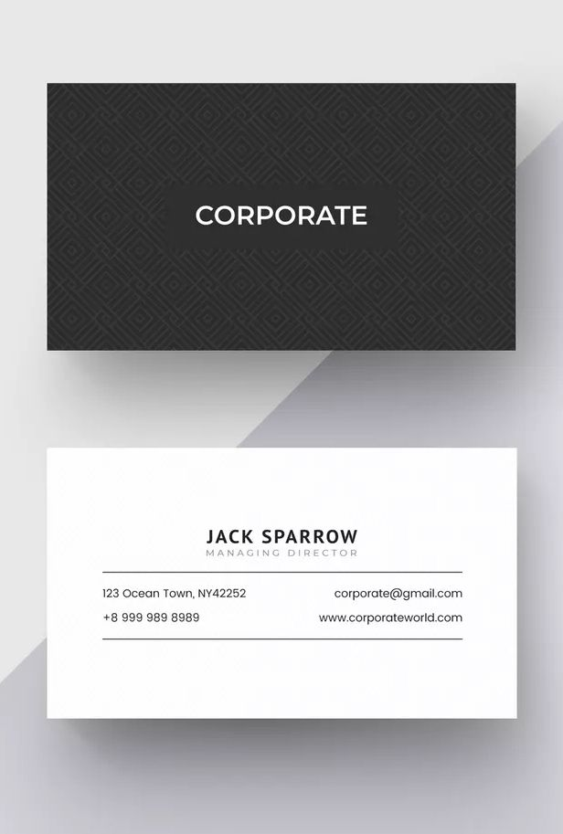Corporate Business Card Template Ai Eps Well Organized Layer