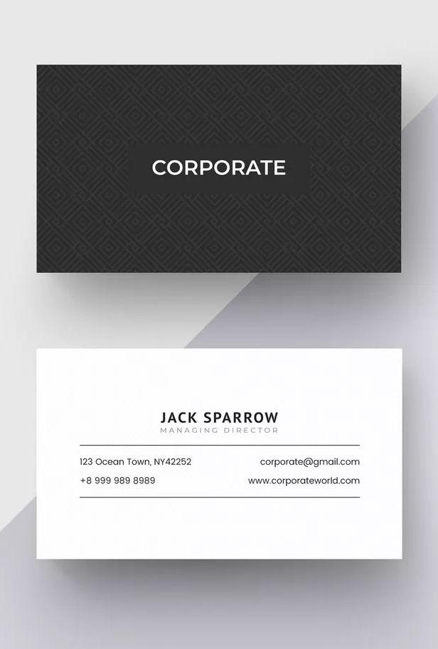 Corporate Business Card Template Ai Eps Business Card Template Business Card Graphic Corporate Business Card