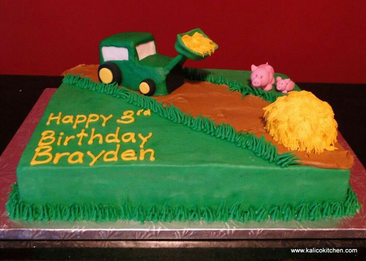... 3rd birthday with this tractor cake. Happy birthday Brayden