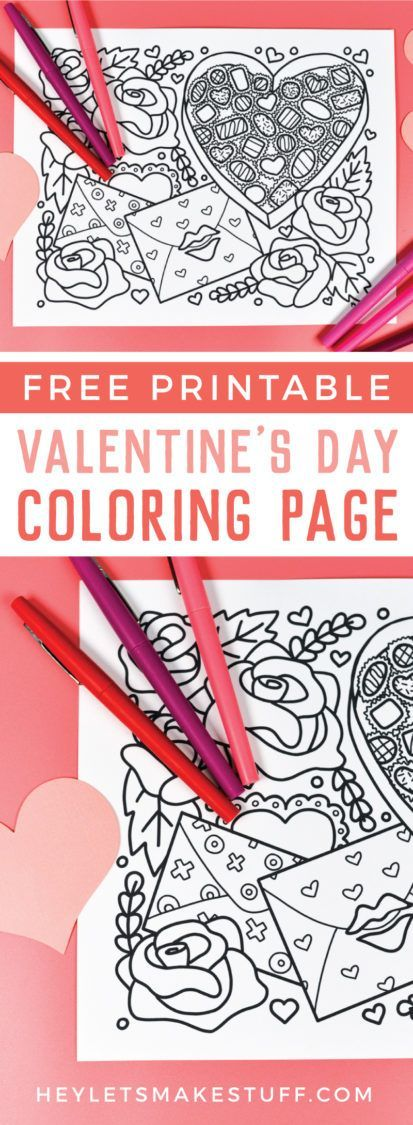 Free Printable Valentine's Day Coloring Page