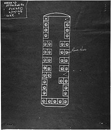 Rosa Parks - Seat layout on the bus where Parks sat, December 1, 1955.