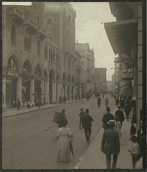 Grand Rue de Pera, Istanbul, Turkey 26 July, 1912