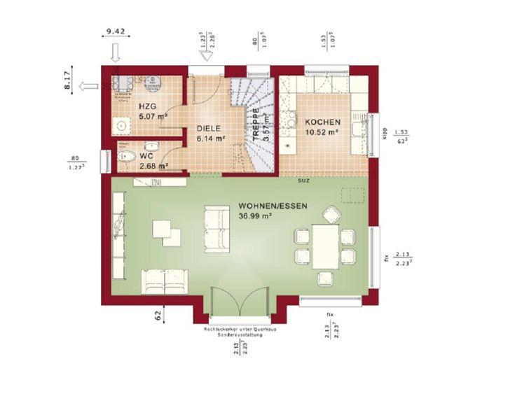 Offener Grundriss 528 best haus grundriss images on cottage floor plans