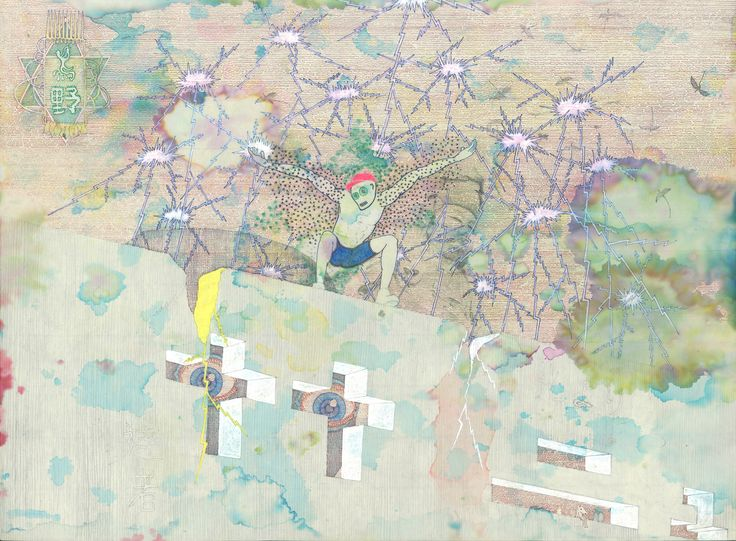 """Neutrino"" by Ari Usui. 2009, ballpoint pens."