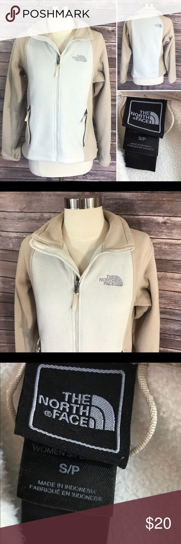 The North Face Fleece Sz S Beige Tan Zip Up Womens Good, gently used condition. Size: small. North Face Jackets & Coats