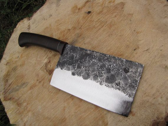 Butcher knife hand forged knife kitchen knife chef by KharkivForge