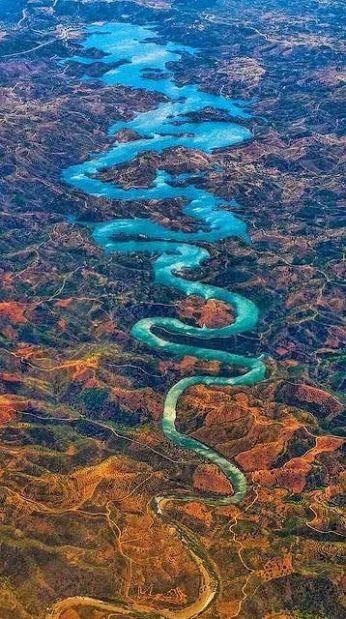 The Blue Dragon River in Portugal.