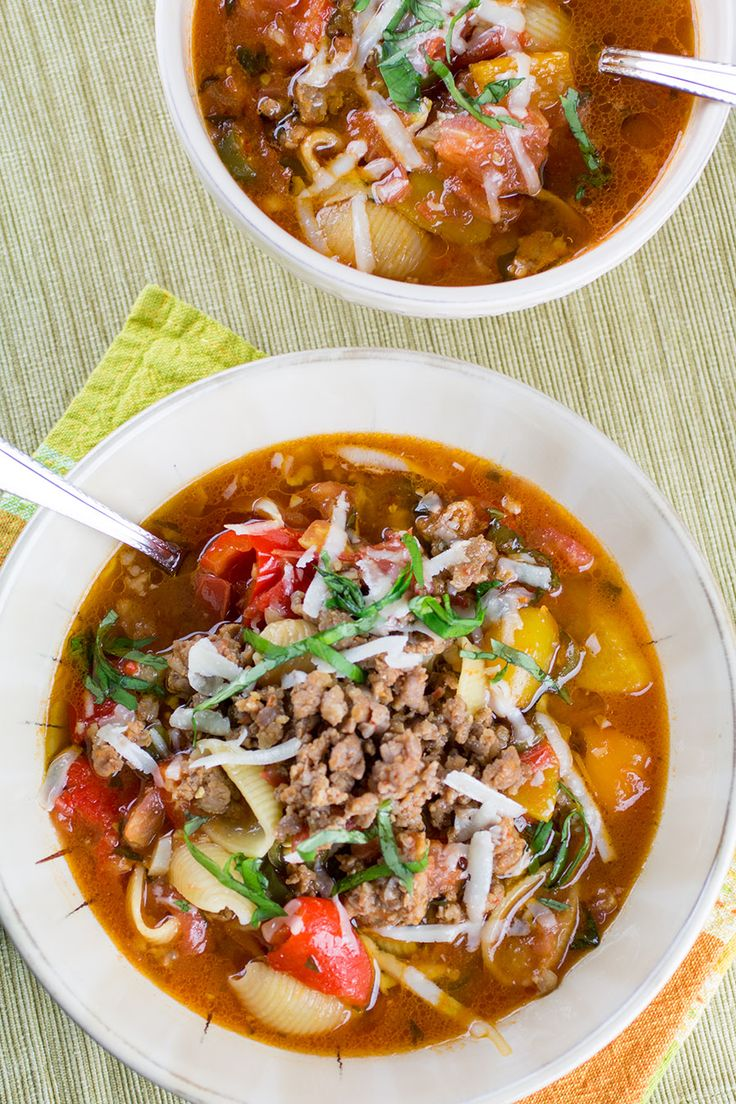 Italian Sausage Soup Recipe with Roasted Peppers and Serranos