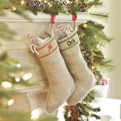 I made this last year! with the same name too fullofgreatideas....  Might have to redo so it looks exactly the same :): Burlap Christmas Stockings, Christmas Crafts, Crafts Ideas, Crafts Rooms, Burlap Stockings, Christmas Decor, Homemade Christmas, Attempt Aloha, Holidays Photos