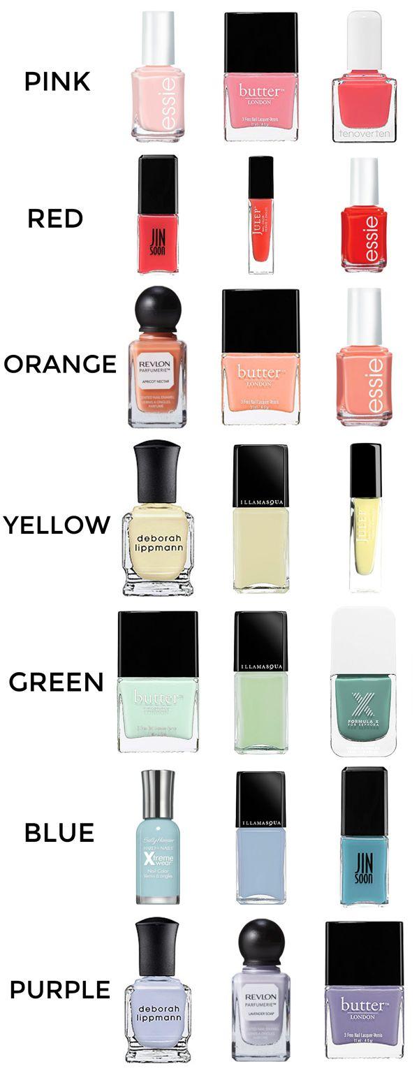 Spring Nail Polish Colors #nails #nailpolish #spring