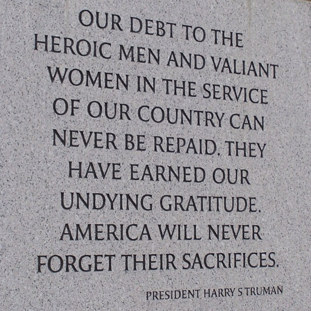Thank those who have put their lives out there for our freedom