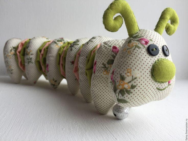 Гусеница:текстильная игрушка, ручная работа,  сделано своими руками