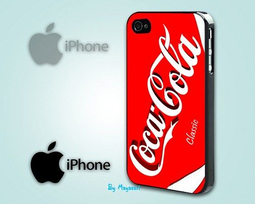 """Softdrink Soda Logo Print on Hard Plastic For iPhone 5 Case, Black Case  This case is available for: iPhone 4/4S iPhone 5/5S iPhone 6 4.7"""" screen Samsung Galaxy S4 Samsung Galaxy S5 iPod 4 iPod 5  Ple"""