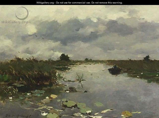 Jan Hendrik Weissenbruch AND painting | Polder Landscape Near Kortenhoef - Johan Hendrik Weissenbruch