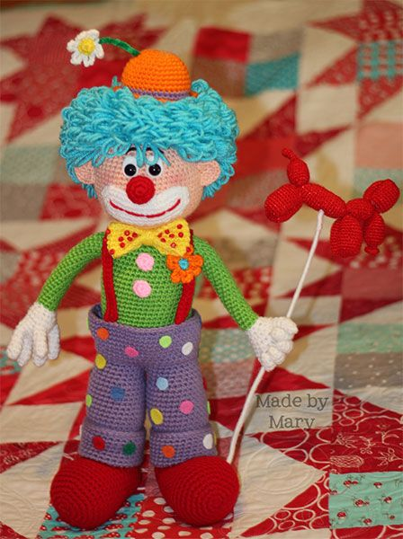 Arlo the Clown | Amigurumi Circus design contest | entry by Made by Mary