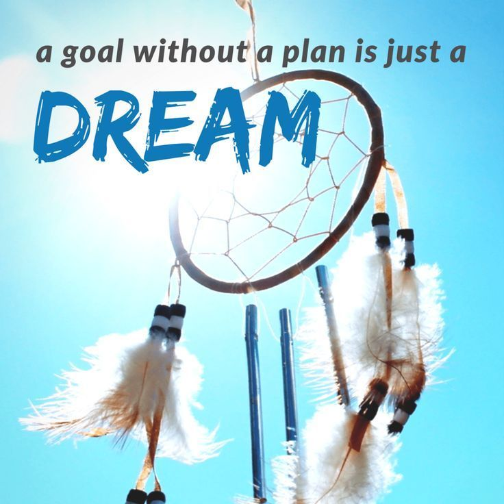 A goal without a plan is just a dream- Goal setting quotes