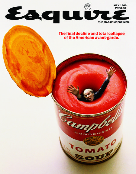 One of the famed covers for Esquire, created by George Lois.