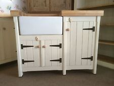 Solid Pine Freestanding Traditional Kitchen Belfast Butler Sink Unit Any  Colour