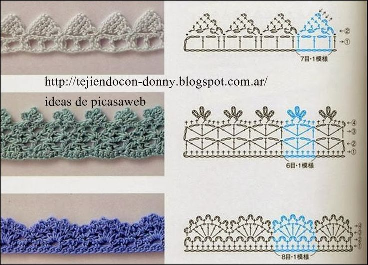 Ganchillo Pattern : PATRONES - CROCHET - GANCHILLO - GRAFICOS: PUNTILLAS: Crochet Grafico ...
