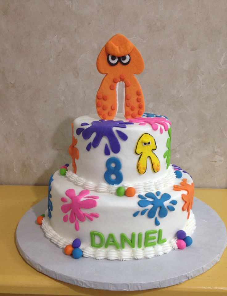 Splatoon  Birthday Cake