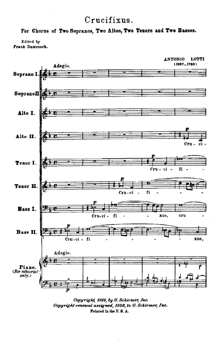 49 best msica images on pinterest music alto saxophone and crucifixus satb by antonio lotti jw pepper sheet music for chamber singers hexwebz Image collections