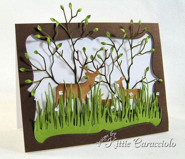 Deer Trio Guy Card by kittie747 - Cards and Paper Crafts at Splitcoaststampers