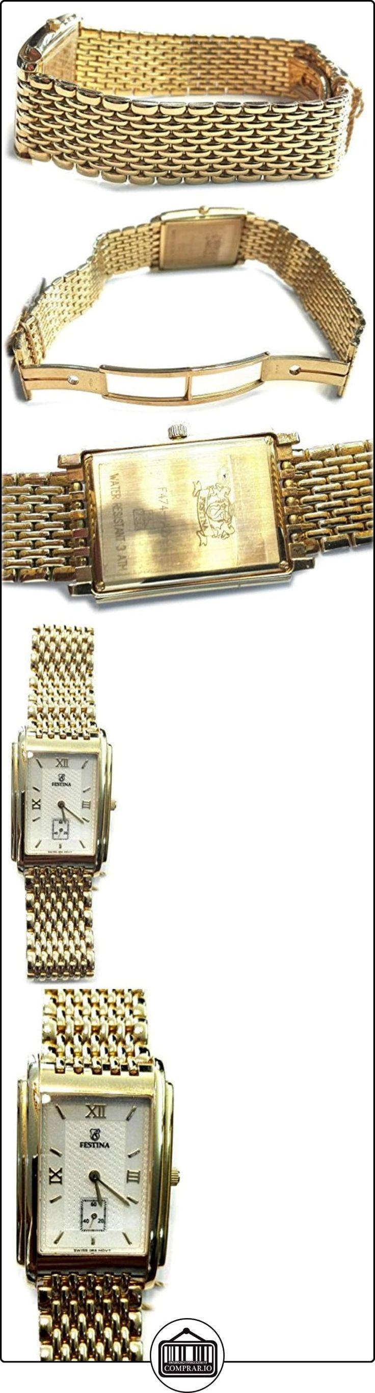 Festina Oro F0474/1 - Reloj Oro 18 Quilates De Caballero Modelo Rectangular  ✿ Relojes para hombre - (Lujo) ✿