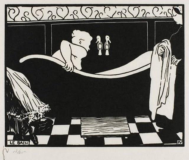 Le bain, 1894. Xylographie vallotton