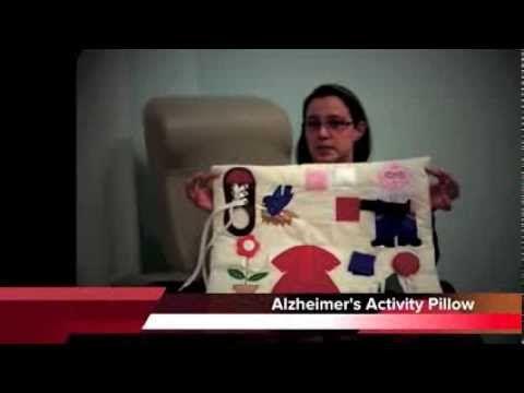 EasierLiving: Denise's Demos Alzheimer's Activity Pillow - YouTube