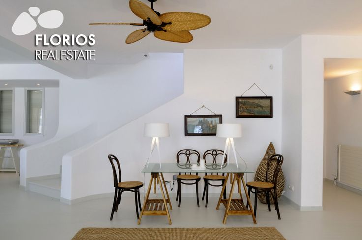 Spacious & luxurious living room of an amazing Villa for Sale on Mykonos island Greece. Close to the Beach, Spectacular view & 2 Swimming Pools. FL1452 http://www.florios.gr/en/mykonos-property/14.html