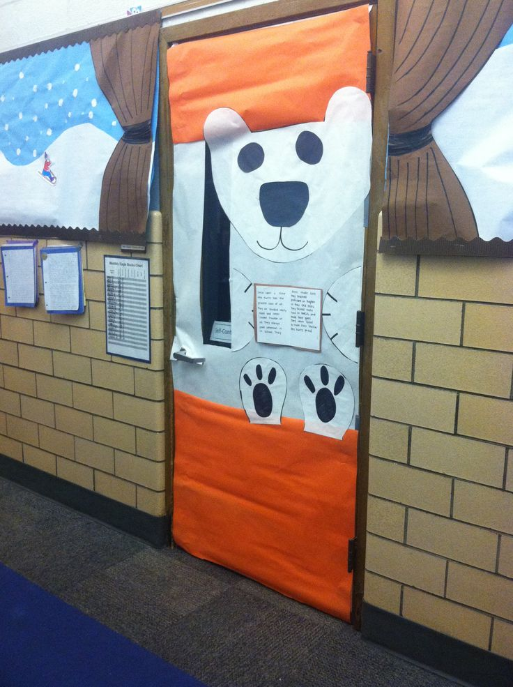 Polar Bear Door For Classroom 4th Grade Ideas