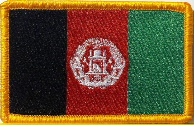 AFGHANISTAN Flag Patch with VELCRO® brand fastener Military Tactical Emblem