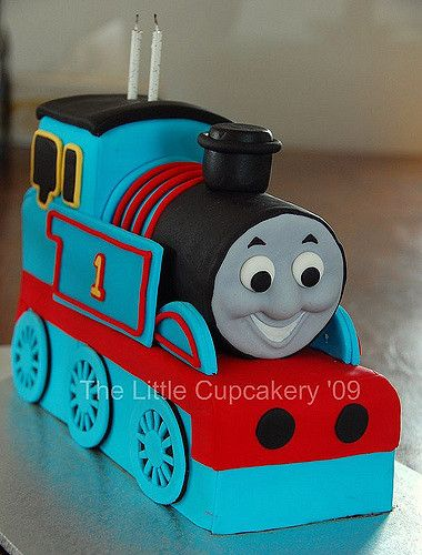 Jaxon's Thomas the Tank Engine 2nd  Birthday Cake | by TheLittleCupcakery