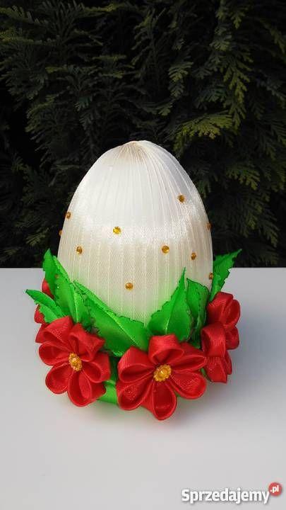 Jajko wielkanocne kanzashi, dekoracja, ozdoba, Wielkanoc Bochnia - Sprzedajemy.pl