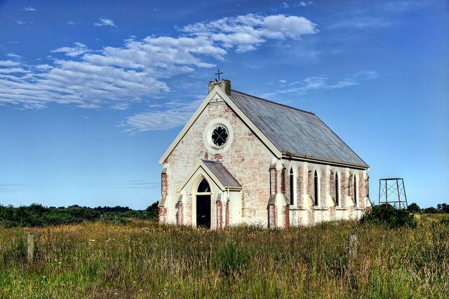 Old church, Grays Corner, South Canterbury, New Zealand.