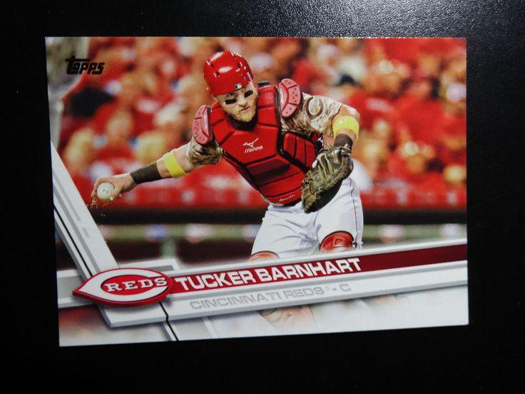 2017 Topps Series 1 #253 Tucker Barnhart Cincinnati Reds Baseball Card #Topps #CincinnatiReds