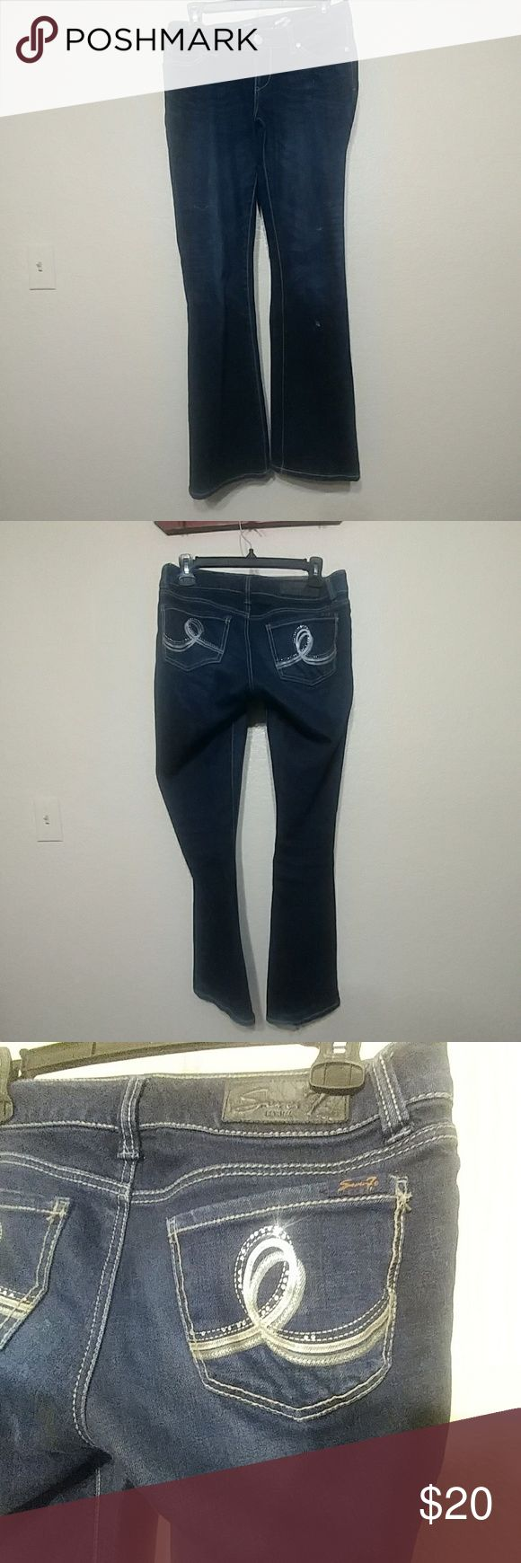 Seven jeans size 27 Seven jeans size 27. Perfect but some wear on heels. Dark denim Seven7 Jeans Boot Cut