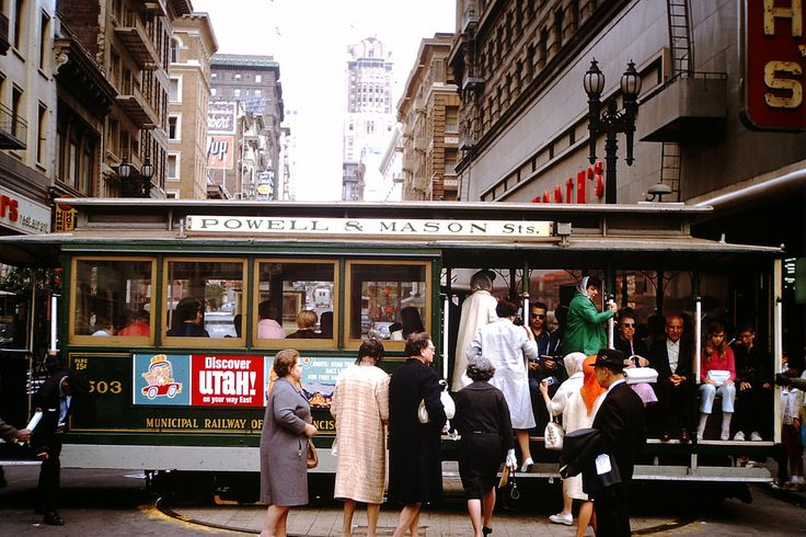 San Francisco cable car, ca. 1950s