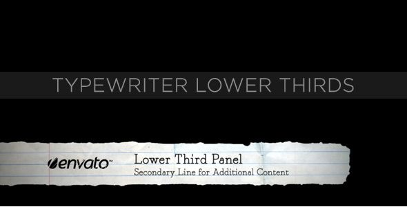 Typewriter Lower Thirds customizable After Effects lower third project template for video.