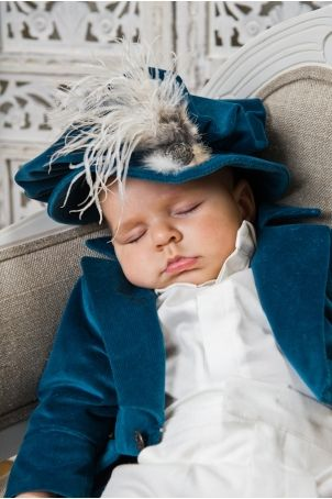 """Artist style hat for your boy's christening, matching the """"Toulouse"""" suit."""