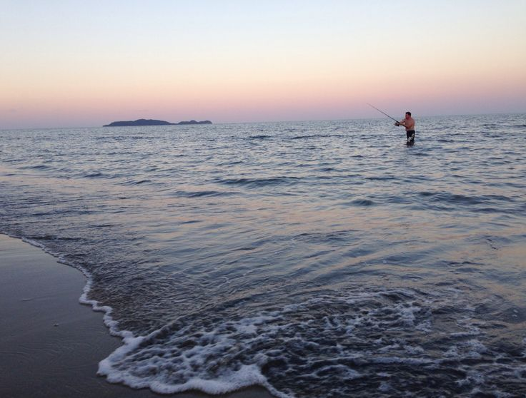 Hubby fishing at Wonga Beach