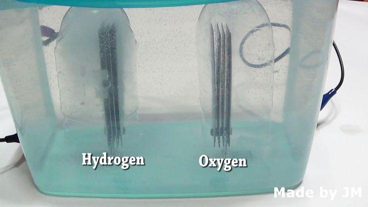 Launching Hydrogen balloon through water electrolysis
