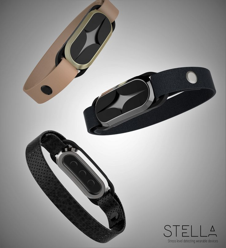 Stella- Stress detecting smart bracelet #smart device #medical device #wearable devices #product design #stella #smart bracelet #industrial design #wearable technology #electronic product #electronic design