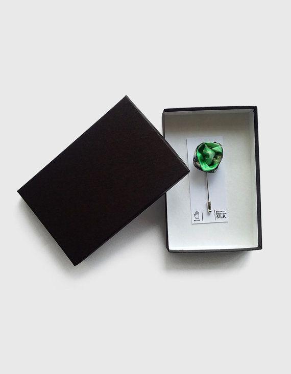 Mint green flower lapel pin for men, mens boutonniere flower suit lapel pin, unique silk wedding buttonhole alternatives, cute gift for him