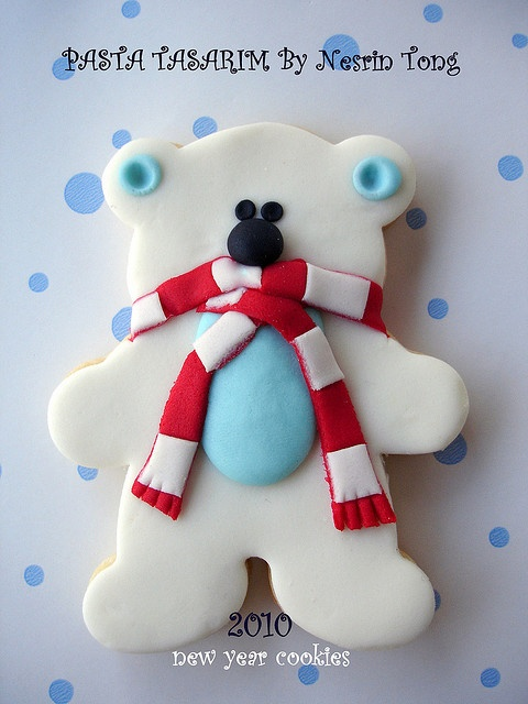 Polar bear cookie -